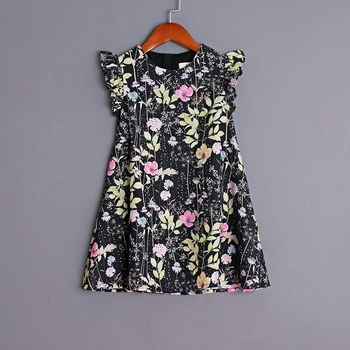 children Summer clothing family look mum kids girl holiday beach dress baby infant loose mother daughter matching formal dresses