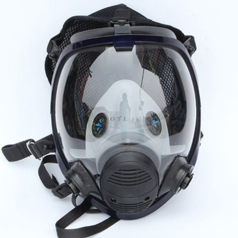 Face piece Respirator Kit Full Face Gas Mask For Painting Spray Pesticide Chemical Fire Protection