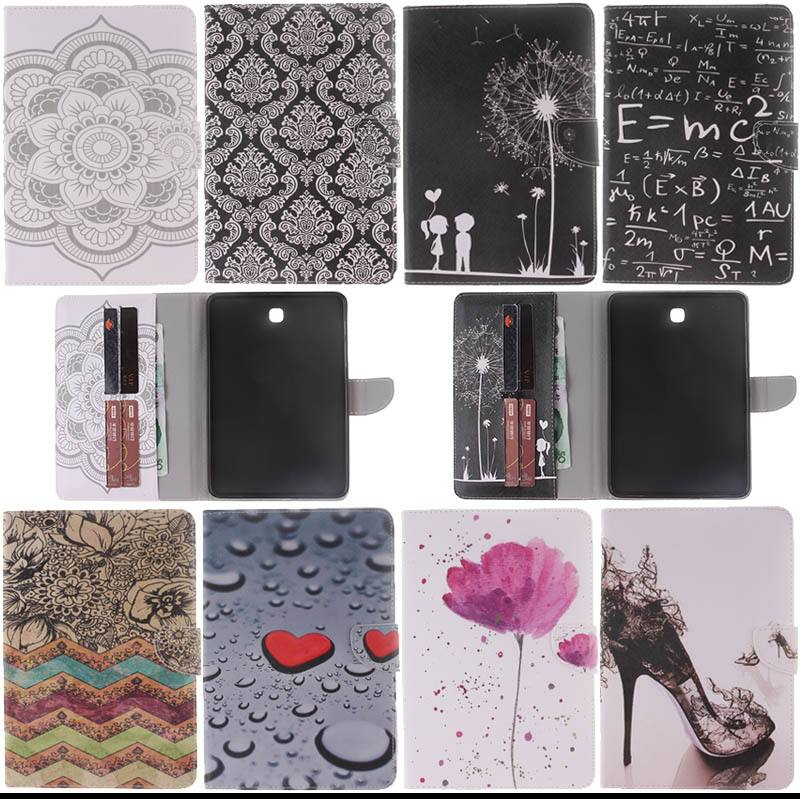 T710 T715 Fashion PU leather Cover stand Case For Samsung Galaxy Tab S2 8.0 SM T710 T715 T715N with card slot Y4D33D