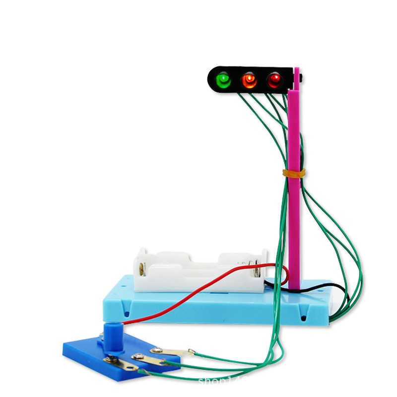 Educational Toy Traffic Light DIY Handmade Scientific Experiments Discovery Toys Science Kits Best Gifts For Kids Child