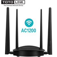 TOTOLINK A800R AC1200 Wireless Wifi Router, 2.4GHz/5.0GHz Wi Fi Repeater with 1GHz CPU for Wider Wi Fi Coverage, Support MU MIMO