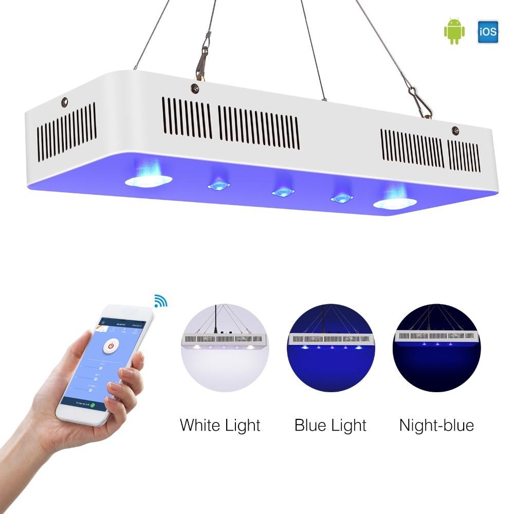 Wifi COB+LENS 169W Marine Led Aquarium Light For Coral Reef Fishing Tank Dimmable Aquarium Led Lighting Fixture China Stock