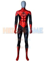 Red Lantern Costume 3D Printed red Lantern Superhero Cosplay jumpsuit Halloween Party adult/kids Bodysuit No Eyemask