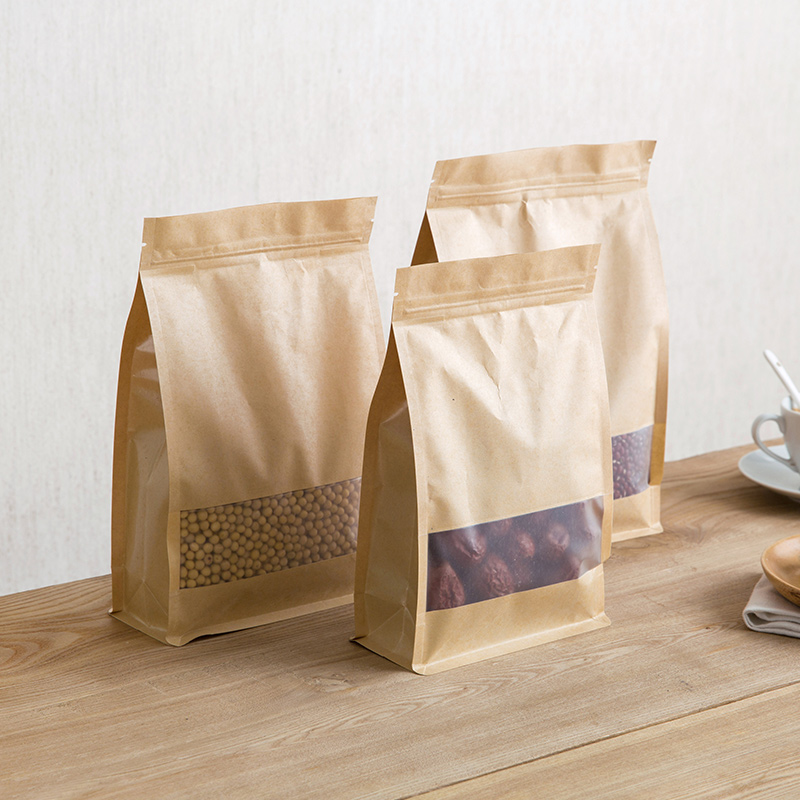 Kraft Paper Bag Nuts Self-styled Retro Kraft Paper Packing Gift Bags Party Wedding Marriage Candies Food Cookie Packaging Bags