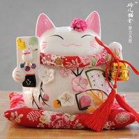 Glückliche Katze ornamente große keramik-sparschwein geöffnet eine hochzeit geschenk förderung saison reichtum macht sonderangebot
