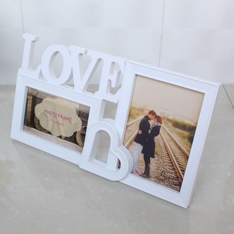 Korean heart shaped wedding photo frame swing sets 7 inch for T shaped swing set