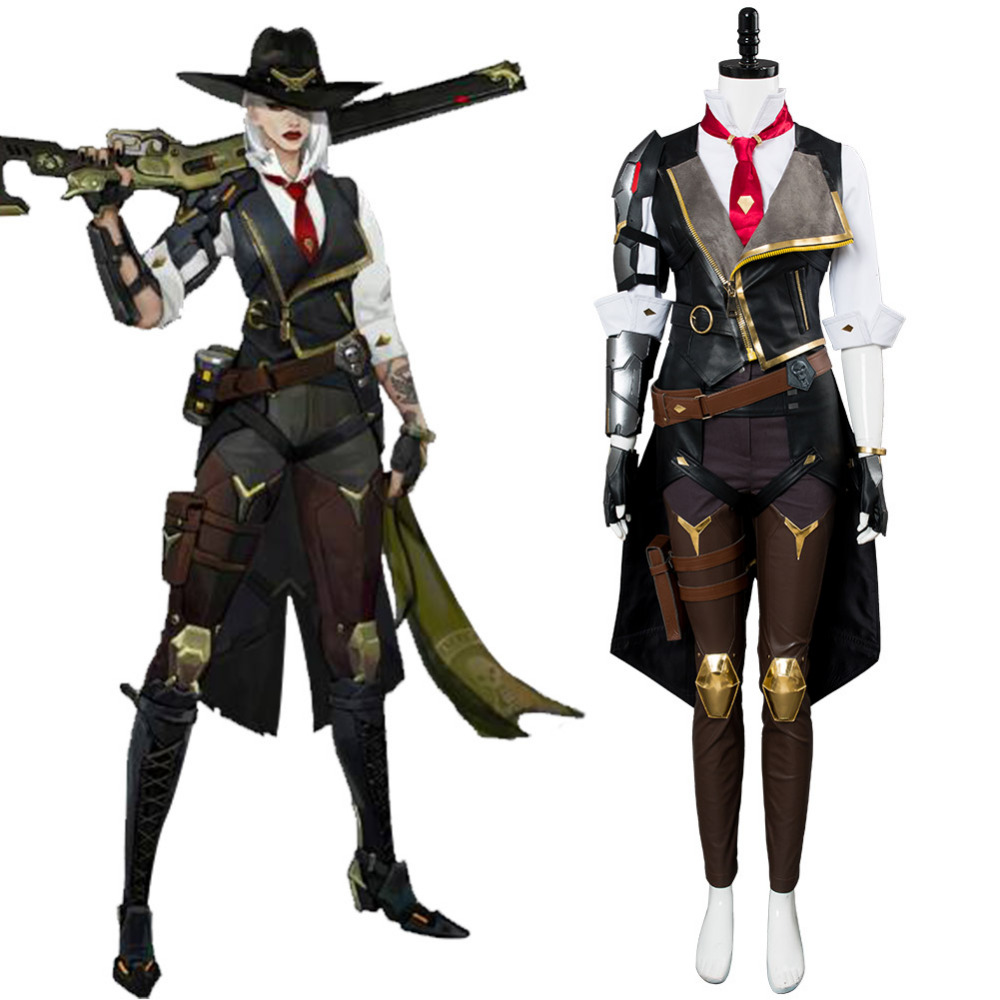 Over Game Watch OW Cosplay Ashe Elizabeth Caledonia Cosplay Costume Outfit Full Suit Halloween Carnival Costumes For Adult Women
