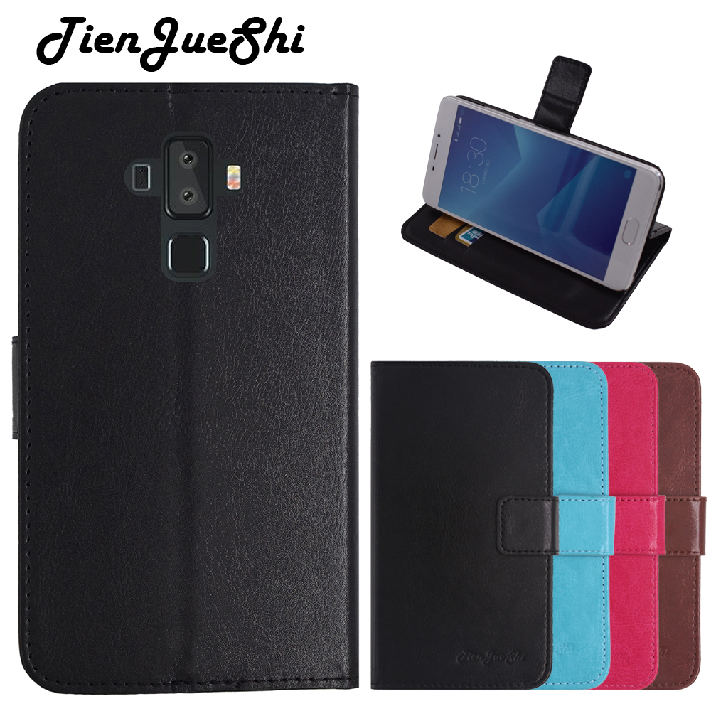 TienJueShi Flip Book Design Protect Leather Cover Shell Wallet Etui Skin Case For Vernee v2 pro 5.99 inch