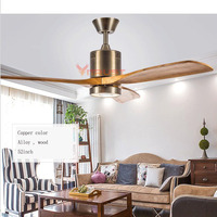 Modern Ceiling fan Lights Wooden Remote Control Nordic Fans Lighting Living Room Ventilador de Teto Hanginng Dining Room Bedroom