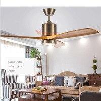 Modern Ceiling fan Lights Wooden Remote Control Nordic Fans Lighting Living Room Ventilador de Teto Hanginng Dining Room Bedroom