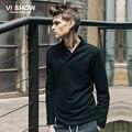Viishow  Men T Shirt Long SLeeve V Neck T Shirt Slim Fit Solid Tops Tee Mens Clothes Casual Mens chic V Neck Tshirt Homme