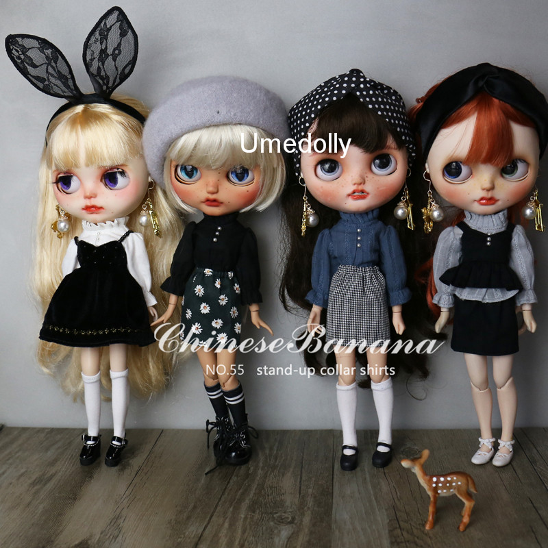 4 Colors 1PCS Casual Collar Long-sleeve Shirt For Blyth, Licca, Azone Doll Clothes Accessories