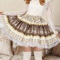 Nuevas Faldas de Encaje Lolita de Cockhorse Lindo Japón Mujeres Faldas Dulce Real De Madera Caballo Plisada Princesa Falda Corta Cosplay Ropa