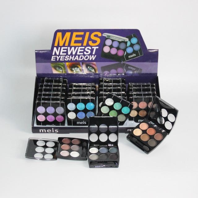 24 UNIDS MEIS Cosméticos Maquillaje de la Marca Profesional de Maquillaje 6 Colores de Sombra de Ojos Paleta de Sombra de ojos Sombra de Ojos Mate Paleta de Sombra 0619