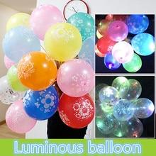 Светится в темноте игрушка светящийся воздушный шар Детский мультфильм флэш шар прозрачный и красочный стиль День рождения украшения