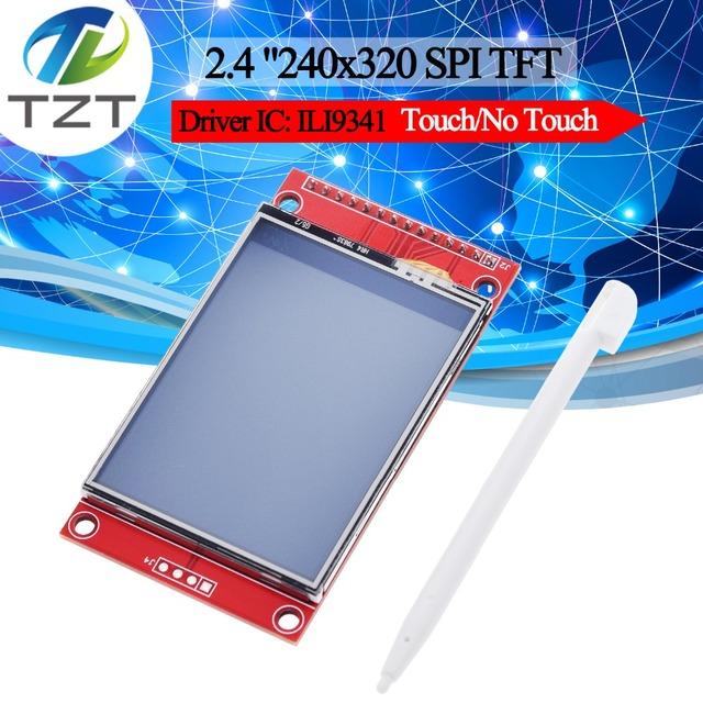 """2.4"""" 240x320 SPI TFT LCD Serial Port Module+5V/3.3V PBC Adapter Micro SD ILI9341 White LED with touch/No touch for Arduino"""