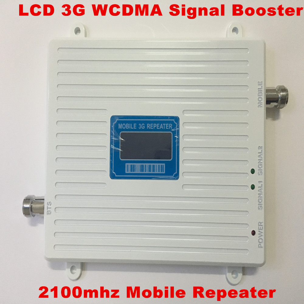 LCD Cell Phone Amplifier 65dB 3G WCDMA 2100MHZ Mobile Phone Signal Booster GSM Signal Repeater Booster Amplifier Receivers