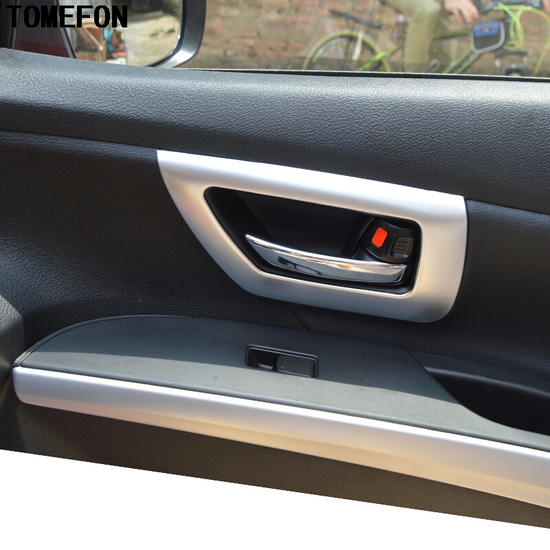 For Suzuki Sx4 S Cross Crossover 2014 2015 2016 Inner Door Handle Cover ABS Matte Trim