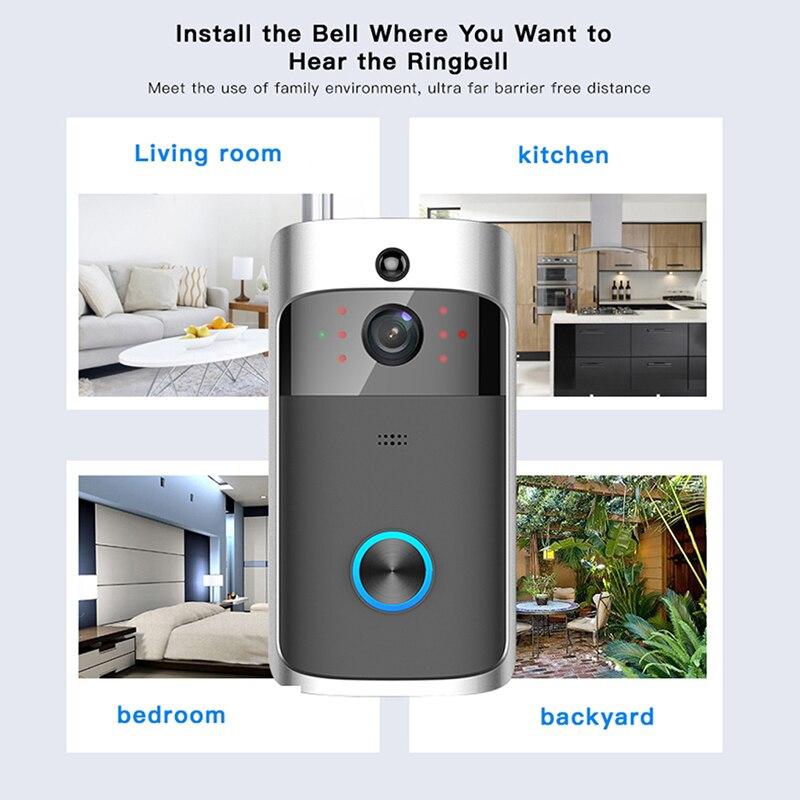 DOITOP умный дом 720 P 50 м Беспроводной Wi-Fi смартфон дверь визуальный Камера дверной звонок обнаружения движения ИК Поддержка домофон