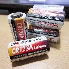 2 шт./лот CR123A CR123 CR 123 123A 16340 1300 мАч 3 В литиевая батарея одноразовый литий-ионный аккумулятор для красного светодиодный фонарика
