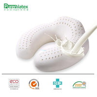 PurenLatex 30x30 U Shape Latex Travel Cushion Neck Pillow Memory Rebound Office Pillow Cervical Spine Protect