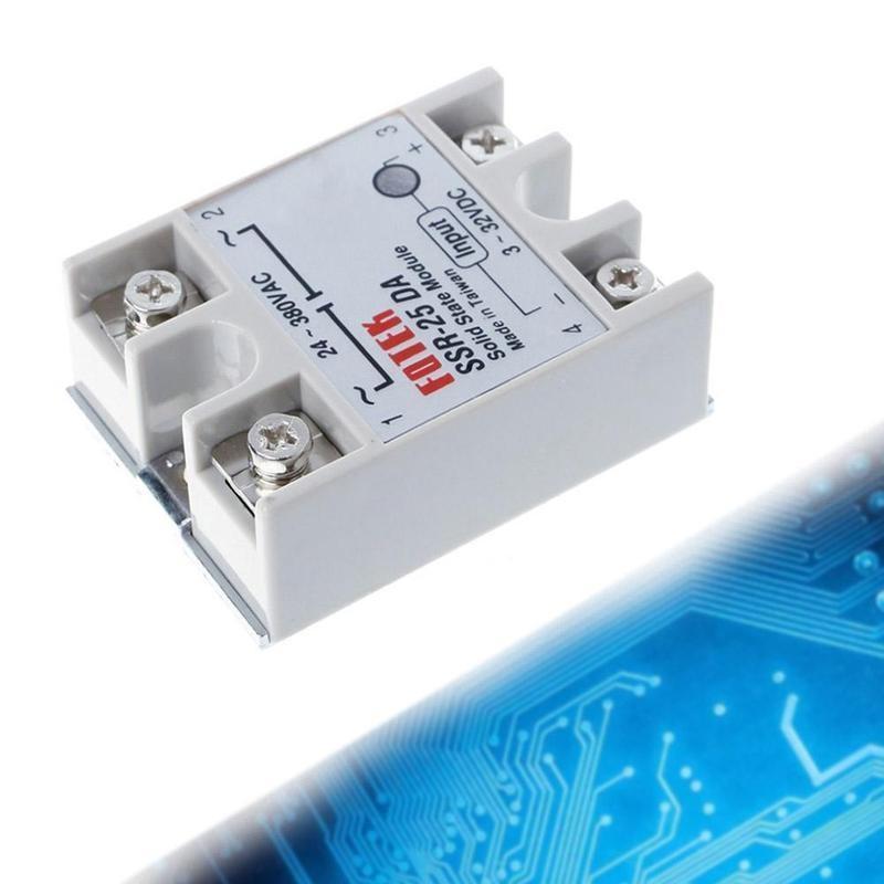 1pcs SSR-25DA 25A 5-24V DC to AC SSR 25DA solid state relay