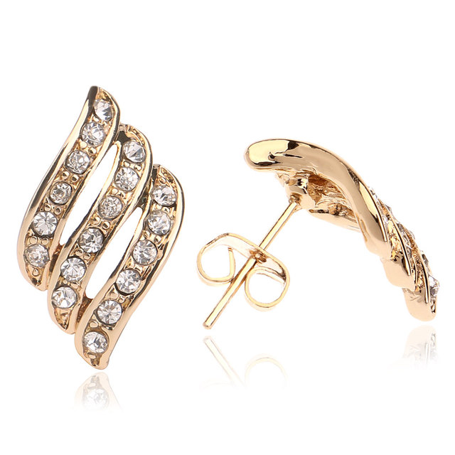 5pcs Lot Top Design Light Weight Simple Gold Earring Designs For Women
