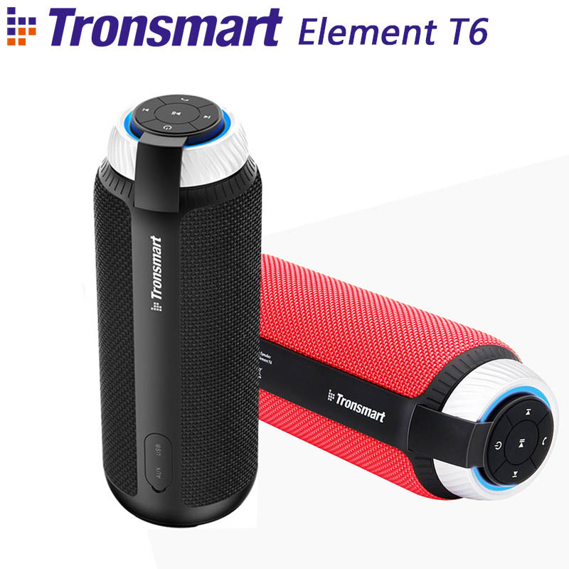 Tronsmart Element T6 Bluetooth 4.1 Portable Speaker Wireless Soundbar Audio Receiver Mini Speakers AUX for IOS Android Xiaomi tronsmart element t6 mini bluetooth speaker portable wireless speaker with 360 degree stereo sound for ios android xiaomi player