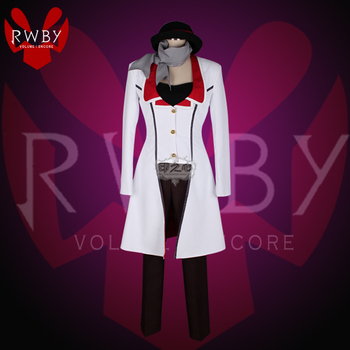 Anime! RWBY Roman Torchwick Sexual Turn Gothic Battle Suit Uniform Cosplay Costume Halloween Outfit Custom-made Free Shipping