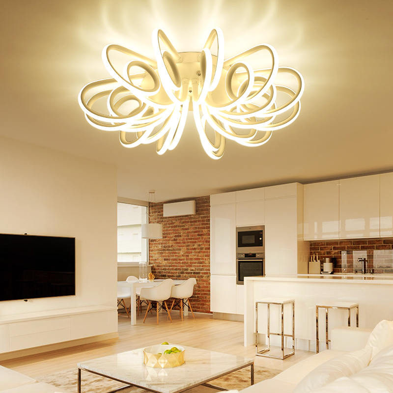 Surface mount ceiling light fixture for bedroom living room Acrylic ceiling lamp Decorative lampshade Lamparas de techo