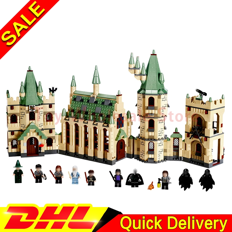 IN Stock Lepin 16030 Movie Series The Hogwarts Castle Educational Building Blocks Bricks Model legoings Toys Clone 4842 lepin 16030 1340pcs movie series hogwarts city model building blocks bricks toys for children pirate caribbean gift