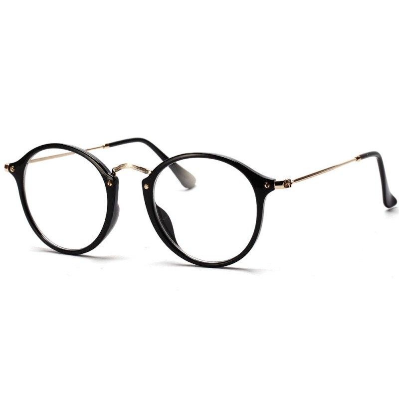 2017 Neue Frauen Männer Vintage Runde Brillen Rahmen Retro Optische Gläser Rahmen Brillen Goggle Oculos Eine GroßE Auswahl An Waren