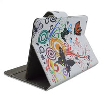Cute Cartoon Butterfly Magnetic Buckle Ultra Thin Slim Flip Folio Stand Pu Leather Case Cover For