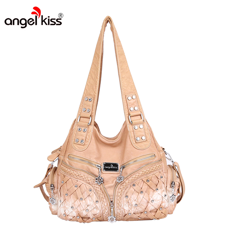 Angelkiss mode femmes sac ensemble Top-poignée sacs grande capacité sac à bandoulière dame Messenger sac à main ensemble PU cuir Composite sac