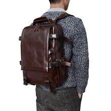 5c986ddbf0ab High Quality Men Genuine Leather Backpack 14