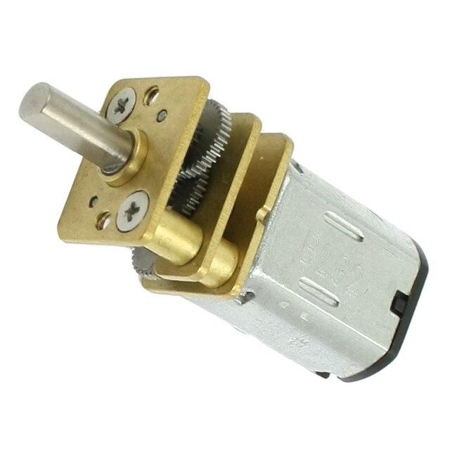 Jfbl 10x Dc 3v 30rpm Torque Geared Gearbox Gear Box Micro Electric Motor Silver