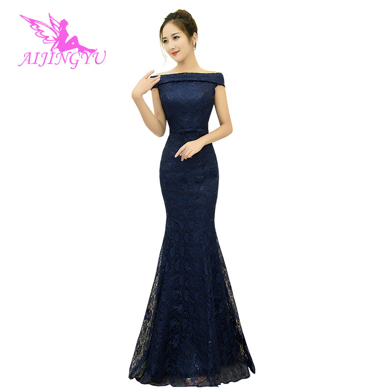 AIJINGYU Sexy Long Sleeve Dresses Evening 2018 Party Gown Women Elegant Formal Dress Fashion Ball Gowns