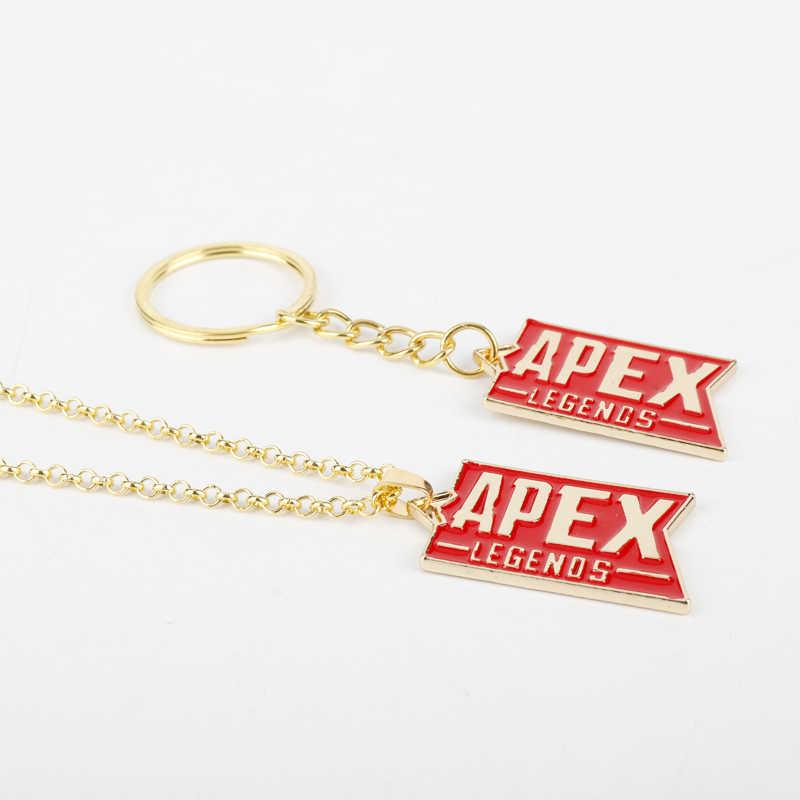 เกมใหม่เครื่องประดับApex Legends Keyringแฟชั่นจี้สีแดงเคลือบสร้อยคอโลหะรถกระเป๋าพวงกุญแจพวงกุญแจผู้ชายผู้หญิงของขวัญ