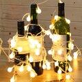 Luminaria 5 m 20 Bola RGB LED de cuerda lámparas Luces De Navidad de hadas de la boda guirnalda jardín año nuevo colgante de iluminación Al Aire Libre