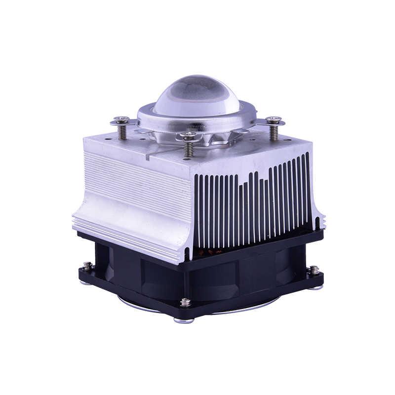Алюминиевый радиатор охлаждения вентилятор 20-100 Вт Светодиодный радиатор 60-90degree 44 мм объектив + отражатель кронштейн DC12V 1.25A светодиодный драйвер