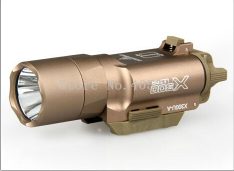 X300 Weapon light Pistol & Picatinny LED Weapon Flashlight Hight Lumens For Army Military Black/ Tan color