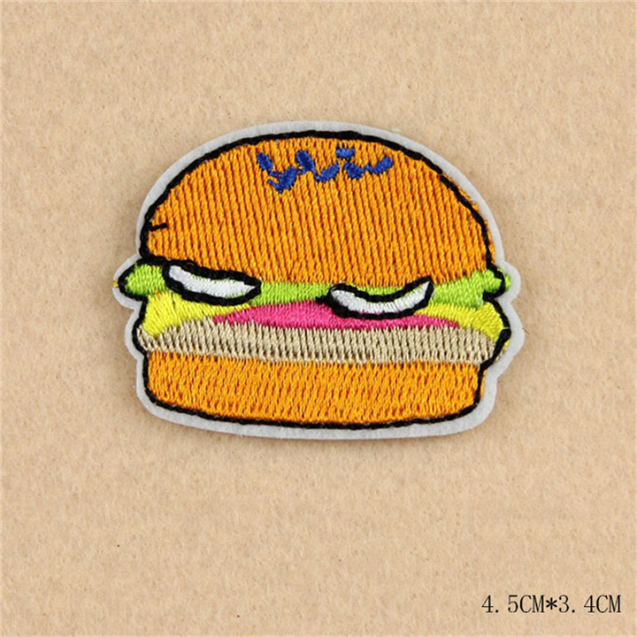 6 8pcs Iron On Food Embroidery Patches For Clothing Bag Shirt Phone Shell Patch Badges Stickers Custom Cute Patches Applique TB004