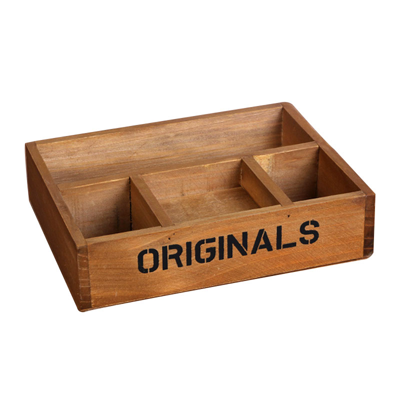 Classical Style Wood Crafts Creative Desktop Wooden Storage Box Handmade Boxes Wooden Case Household Supplies wood