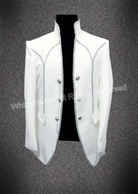 Elegant White Men Stage Costume Masculino Homens Blazer Masculino Casual 2018 Men Costume Classic Men Fashion Jacket White