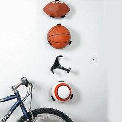 Soporte de bola garra pared estante montaje Pantalla de Rugby baloncesto fútbol soporte deportes organizador suministros
