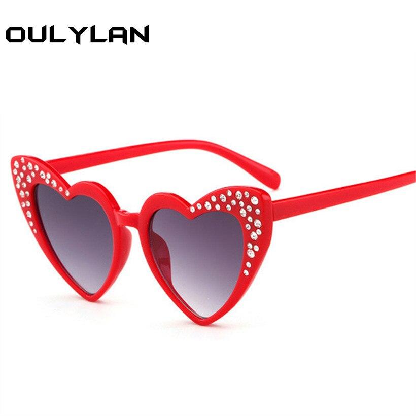 d7652d08c65 Oulylan Kids Rhinestone Sunglasses Baby Heart shaped Sun Glasses Girl Cute  Eyewear Gift For Children Fashion Heart Glasses-in Sunglasses from Mother    Kids ...