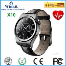 Winait x10 smart watchกับipsหน้าจอรอบบลูทูธ4.0 heart rate monitorเครื่องวัดระยะสูงหนังสายm ontre connecter