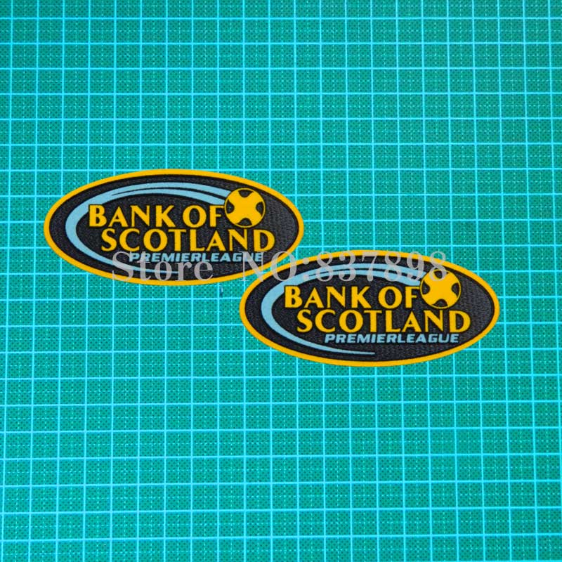 Scottish Premier League Gold Soccer patch badge Cashmere material velvet ...