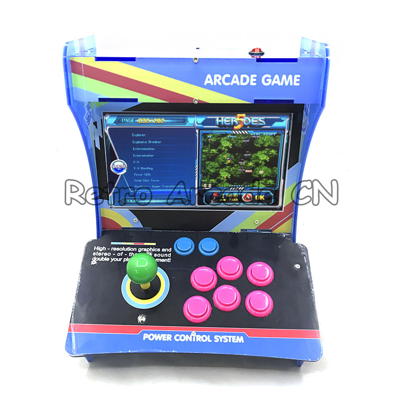 Arcade Mini Acrylic Cabinet jamma game Console machine With New Heroes 5 PCB 2020 in 1, Pandora 1299/1388 games 10.4 inch LCD