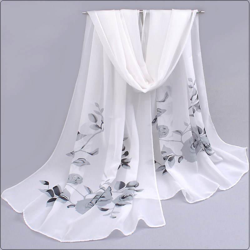 Spring And Summer Women Scarf 2018 New Pashmina Shawl Printed Cape Silk Chiffon Polyester Tippet Muffler